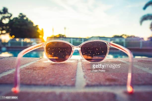 sunglasses in the sun. - spring break stock pictures, royalty-free photos & images