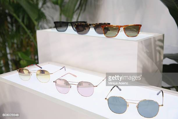 Sunglasses on display at Krewe New Orleans Eyewear presentation during MADE Fashion Week September 2016 at Milk Studios on September 11 2016 in New...