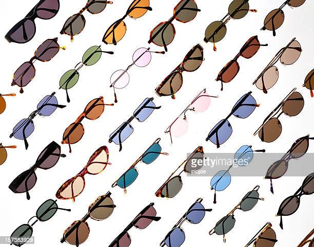 sunglasses - thick rimmed spectacles stock photos and pictures