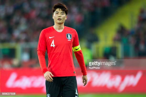 Sungyueng Ki of Korea during the international friendly match between Poland and South Korea at Silesian Stadium in Chorzow Poland on March 27 2018