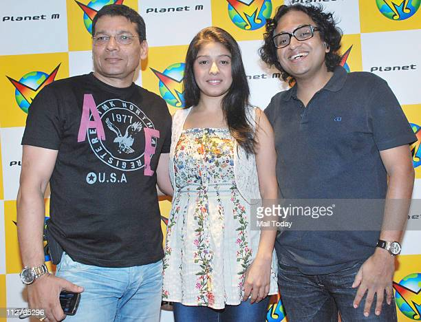 Sunidhi Chauhan and Shamir Tandon at the promotion of Sunidhi Chauhan's latest album Heart Beat with Enrique Iglesias at Planet M in Mumbai