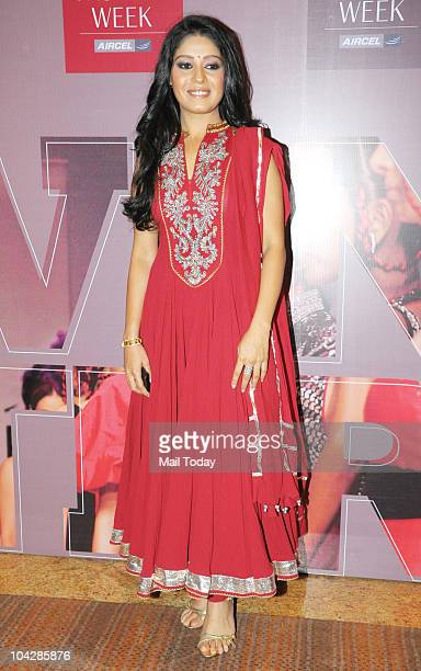 Sunidhi Chauhan at the first day of the Lakme Fashion Week in Mumbai on September 17 2010