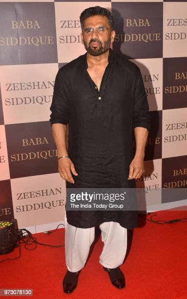 Suniel Shetty at Baba Siddiques Iftar party in Mumbai