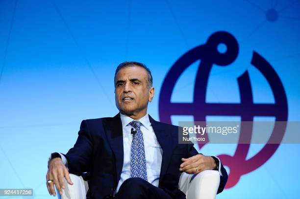 Sunil Bharti Mittal, Chairman, GSMA and Founder Chairman, speaking during Creating a Better Service Provide conference, at the Mobile World Congress...