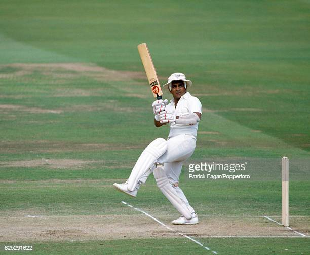 Sunil Gavaskar batting for Rest of the World XI during his innings of 188 in the MCC Bicentenary match between MCC and Rest of the World XI at Lord's...