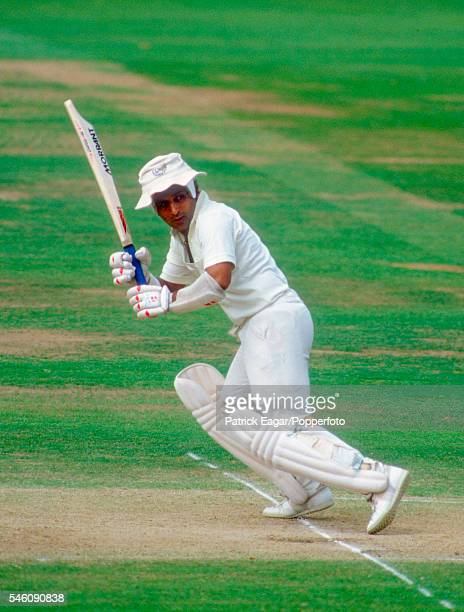Sunil Gavaskar batting for the Rest of the World XI during the MCC Bicentenary match between Marylebone Cricket Club and Rest of the World XI at...