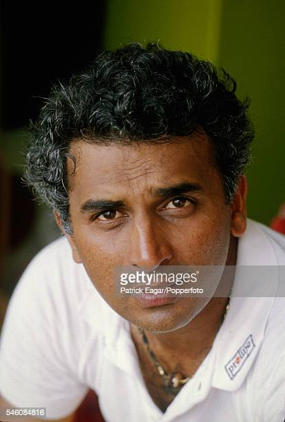 Sunil Gavaskar of India during the Prudential World Cup Semi Final between England and India at Old Trafford Manchester 22nd June 1983