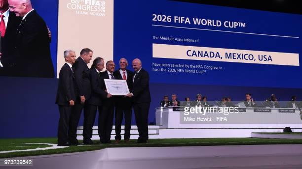 CONCACAF VP Sunil Gulati CONCACAF President Victor Montagliani Mexican Football Federation President Decio de Maria USA Soccer Federation President...