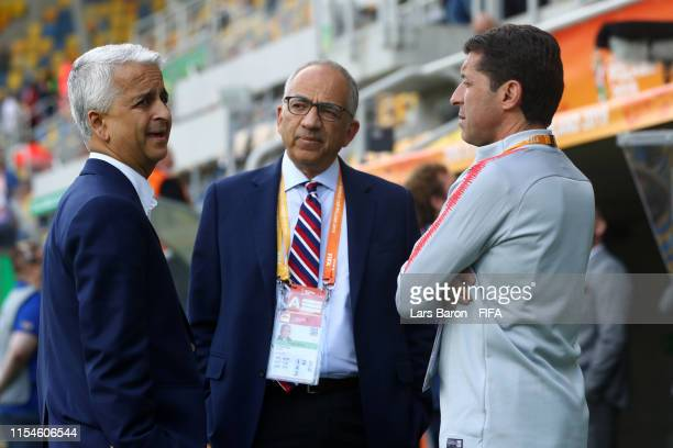 Sunil Gulati FIFA CONCACAF council member Carlos Cordeiro President of United States Soccer Federation and Tab Ramos head coach of the United States...