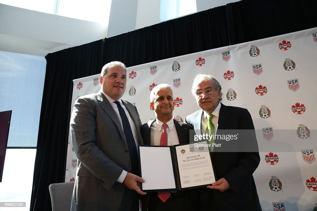 US, Canadian And Mexican Soccer Federations Make Major Announcement : News Photo