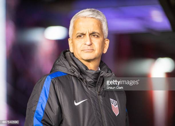 Sunil Gulati prior to the World Cup Qualifier match between the United States and Honduras at Avaya Stadium on March 24 2017 in San Jose California...