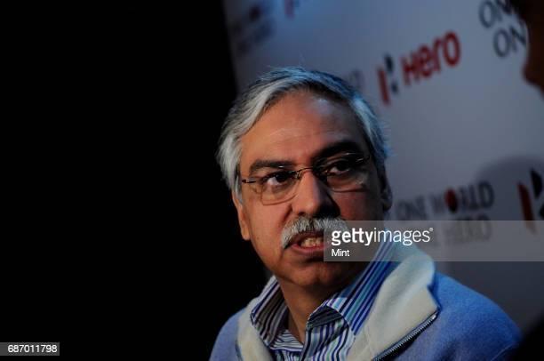 Sunil Munjal Joint Managing Director of Hero MotoCorp at the launch of hero bikes at Oberoi in New Delhi
