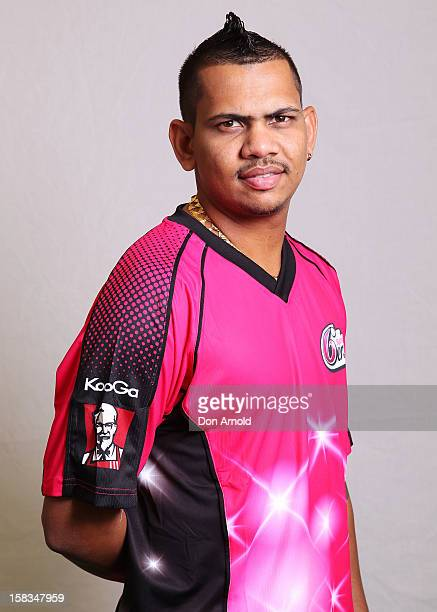 Sunil Narine poses for a headshot at the Sydney Cricket Ground on December 14, 2012 in Sydney, Australia.