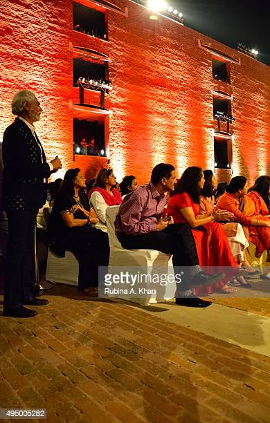 Sunil Sethi FDCI President at the Fashion Design Council of India's Huts to High Street a fashion show organised to promote khadi alongwith the...