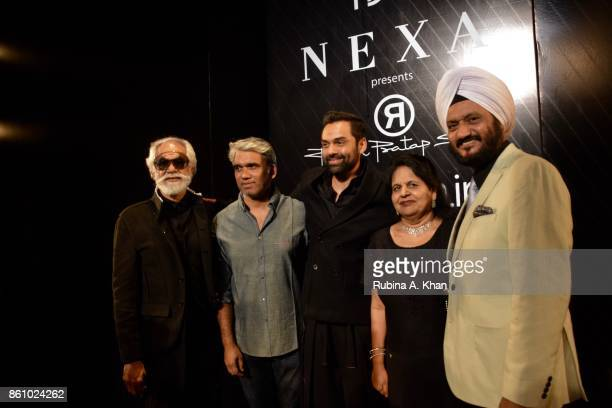 Sunil Sethi President of the Fashion Design Council of India with Rajesh Pratap Singh Abhay Deol Harjinder Kalsi and RS Kalsi Senior Executive...