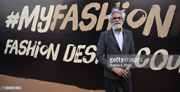 Sunil Sethi, President of the FDCI at the Lotus Make-Up India Fashion Week Spring Summer 2020 Finale on October 12, 2019 in New Delhi, India.