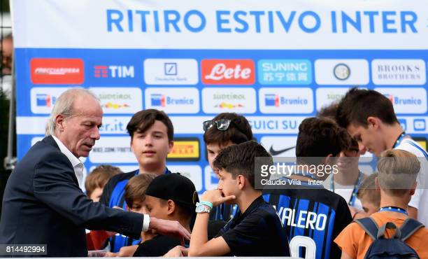 Suning Sports Technical Director Walter Sabatini attends during training session on July 14 2017 in Reischach near Bruneck Italy