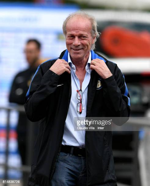 Suning Sports Technical Director Walter Sabatini looks on a training session on July 15 2017 in Reischach near Bruneck Italy
