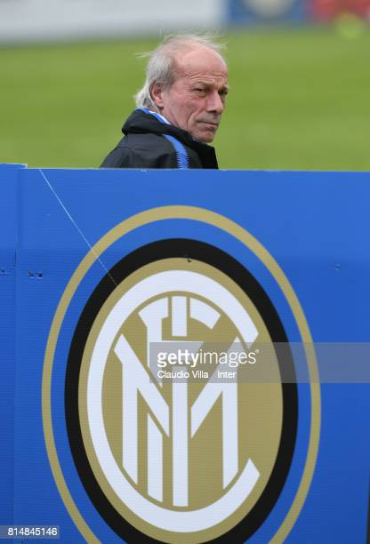 Suning Sports Technical Director Walter Sabatini looks on during a training session on July 15 2017 in Reischach near Bruneck Italy