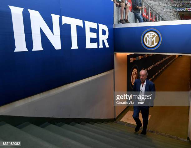 Suning Sports Technical Director Walter Sabatini looks on prior to the Serie A match between FC Internazionale and ACF Fiorentina at Stadio Giuseppe...