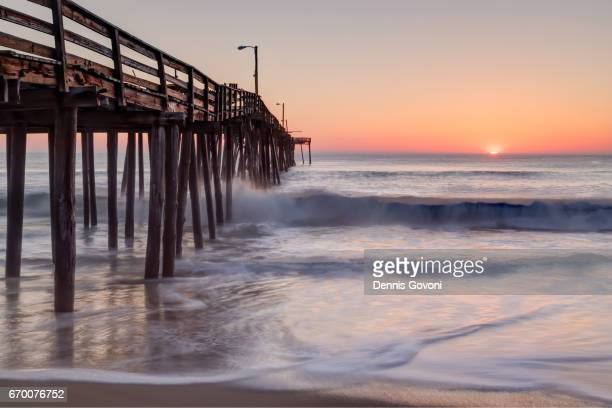 sunise from nags head - outer banks stock pictures, royalty-free photos & images