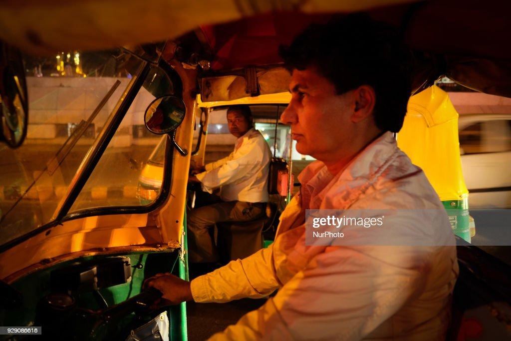 North India's first woman auto-rickshaw driver : News Photo