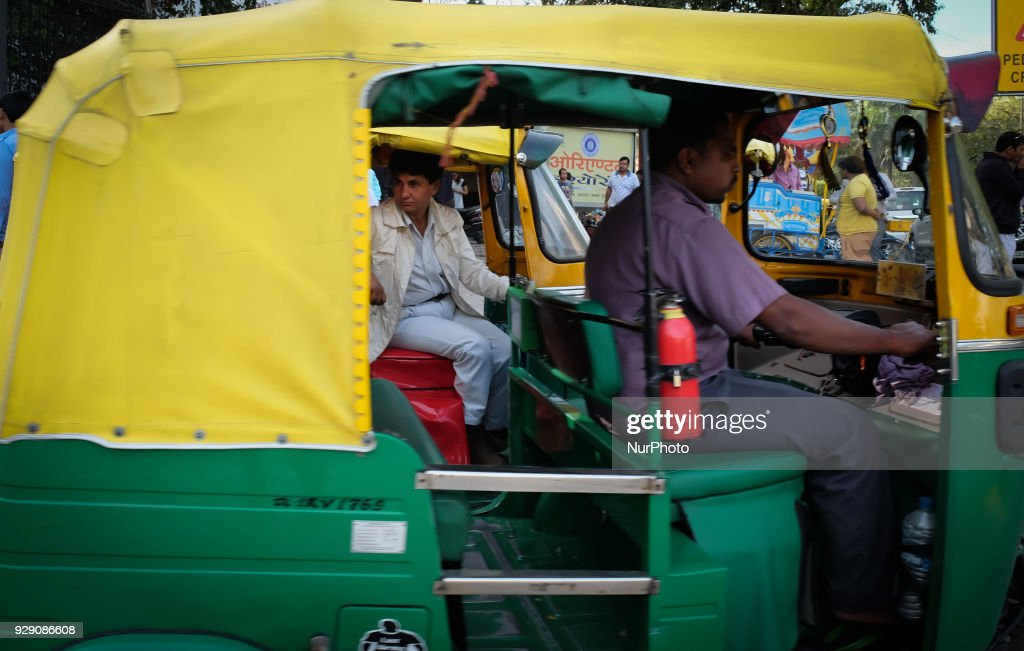 North India's first woman auto-rickshaw driver : News Photo