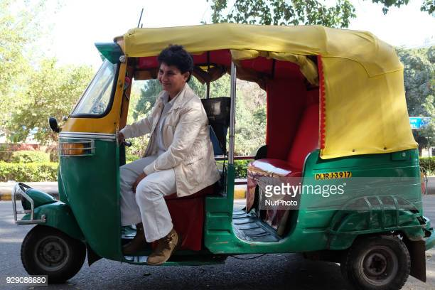 Sunita Choudhary North India's first woman autorickshaw driver photographed in New Delhi on 6th March 2018Sunita Choudhary North India's first woman...