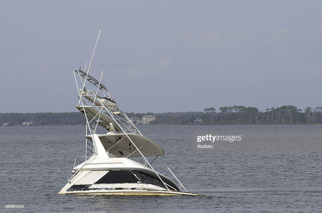 Sunk Boat : Stock Photo