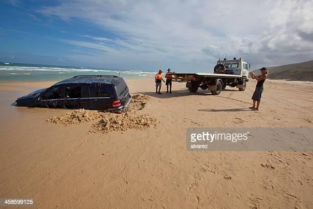 Sunken Mercedes in Fraser Island, Australia