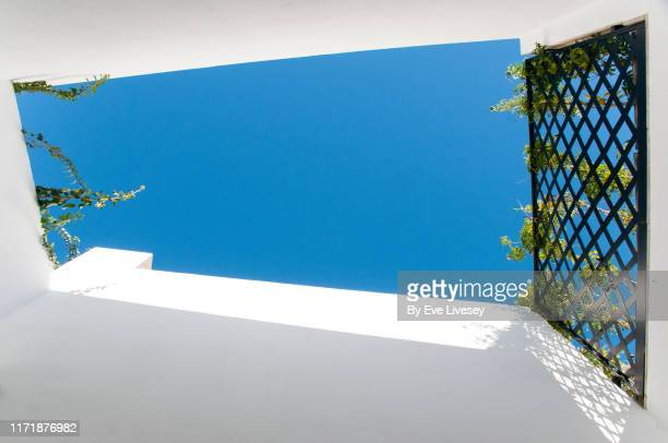 sunken patio - mediterranean culture stock pictures, royalty-free photos & images