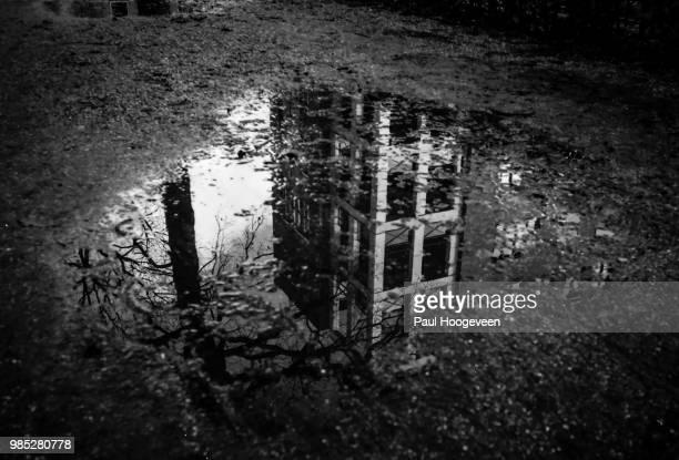 sunken structures - hoogeveen stock pictures, royalty-free photos & images