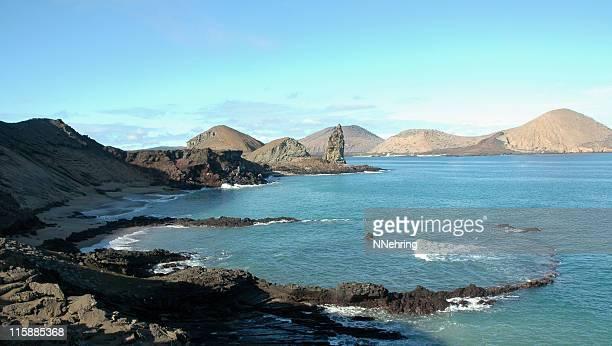 sunken cráter, altura de las islas galápagos - parque nacional galápagos fotografías e imágenes de stock