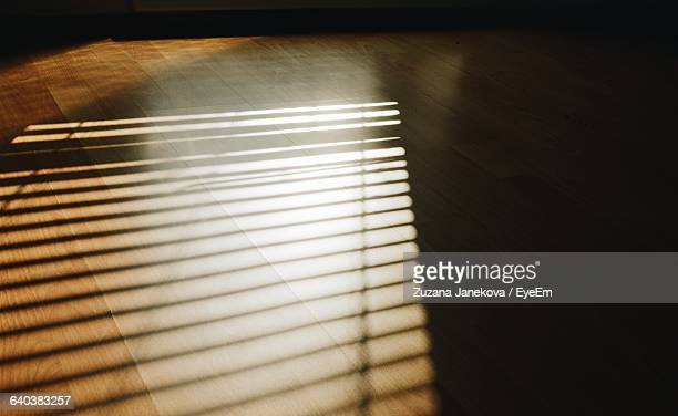 Sunlight Beaming On Hardwood Floor