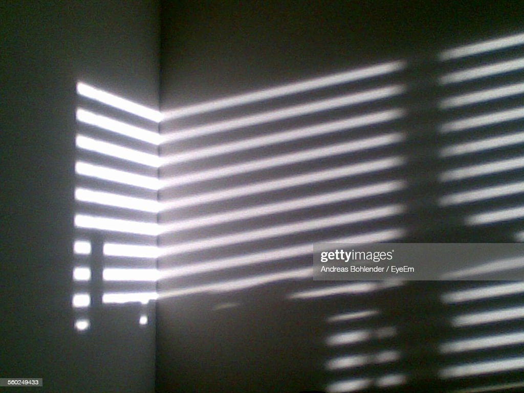 Sunlight Braking Through Blinds : Stock Photo