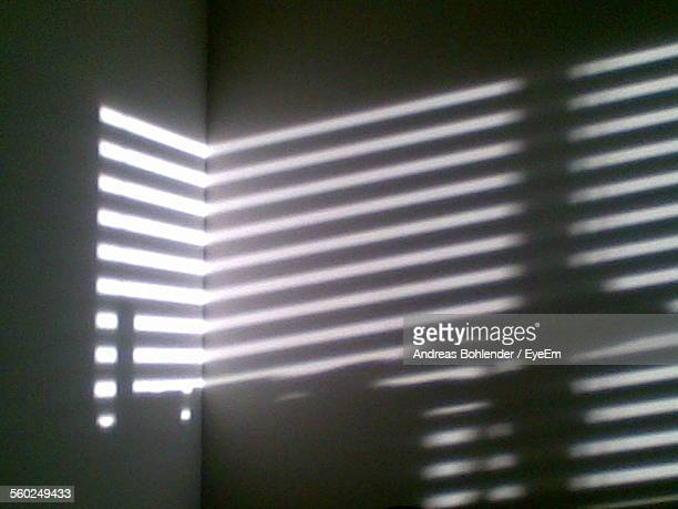 Sunlight Braking Through Blinds