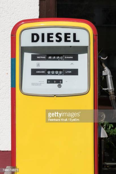 Sunlight Falling Fuel Pump At Gas Station