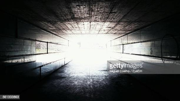 Sunlight Falling In Tunnel