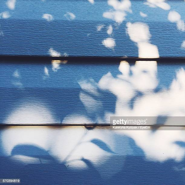 Sunlight Falling On Blue Planks