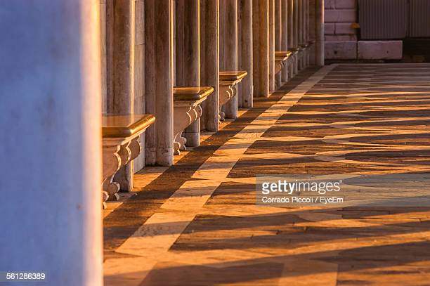sunlight falling on floor of doges palace - colonnade stock pictures, royalty-free photos & images