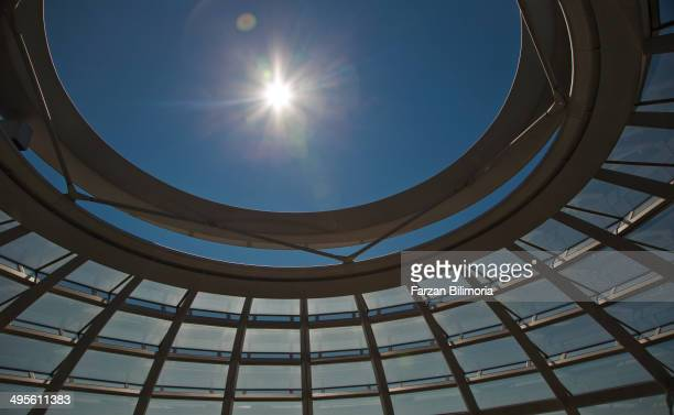 CONTENT] Sunlight flare into Reichstag Dome Berlin on a summer's day