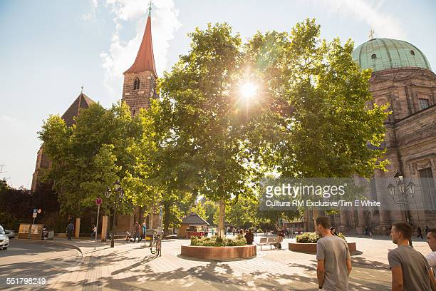 Sunlight in Town square, Nuremberg, Germany