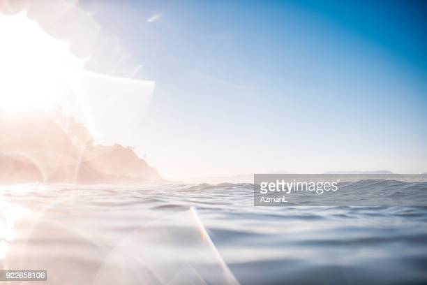 Sunlight on a beach in Australia