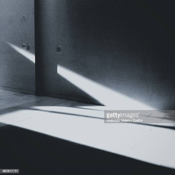 Sunlight On Concrete Floor And Wall