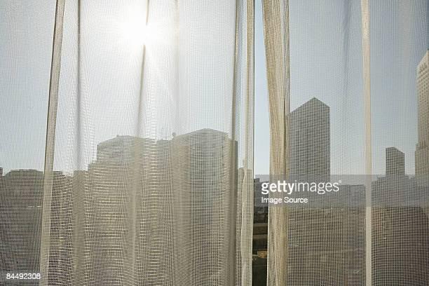 Sunlight on net curtain