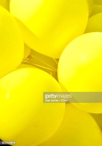 Sunlight on yellow balloons