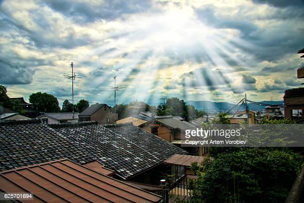 sunlight over kyoto - edo period ストックフォトと画像
