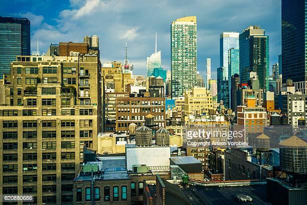 Sunlight over Manhattan