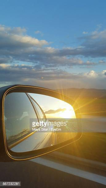 Sunlight Reflection On Side-View Mirror