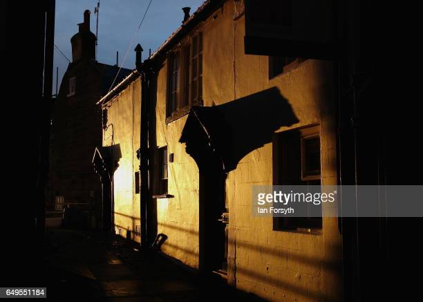 Sunlight reflects off a home in Robin Hood's Bay on the North Yorkshire coast on March 8 2017 in Robin Hood's Bay United Kingdom Robin Hood's Bay is...
